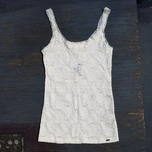 HOLLISTER Floral Lace Tank Top Stretch